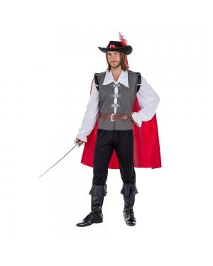 Costume da Moschettiere Grey Uomo per Carnevale | La Casa di Carnevale