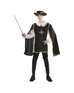 Costume da Moschettiero Nero  per Carnevale | La Casa di Carnevale