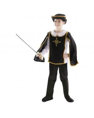 Costume da Moschettiero Nero Bambino per Carnevale | La Casa di Carnevale