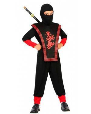 Costume da Ninja 7-9 Anni per Carnevale