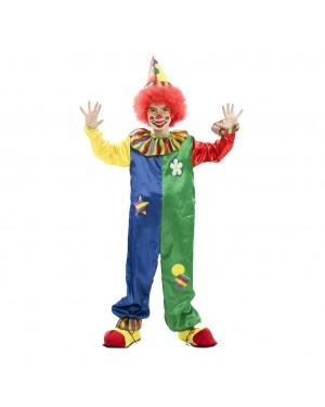 Costume da Pagliaccio Multicolore Bambini per Carnevale | La Casa di Carnevale