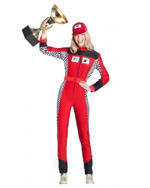 Costume da Pilota Automobilistico Donna per Carnevale | La Casa di Carnevale