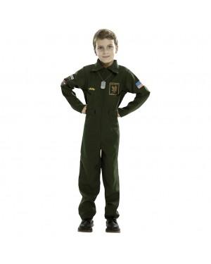 Costume da Pilota da Combattimento Bambino per Carnevale | La Casa di Carnevale