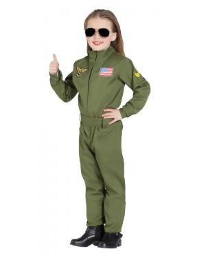 Costume da Pilota di Aereo da Combattimento Unisex per Carnevale | La Casa di Carnevale