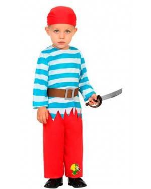 Costume da Pirata 6-12 Mesi per Carnevale