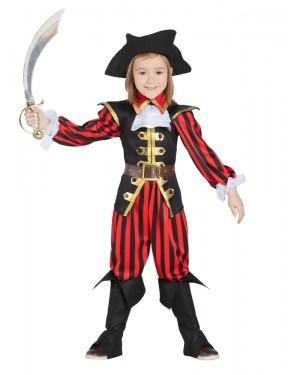 Costume da Pirata per Bambino a Righe per Carnevale | La Casa di Carnevale