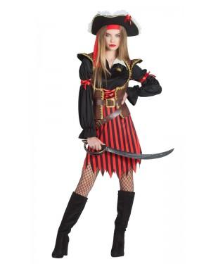 Costume da Pirata per Donna a Righe per Carnevale | La Casa di Carnevale