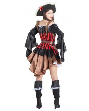 Costume da Pirata per Donne con Maniche Larghe per Carnevale | La Casa di Carnevale