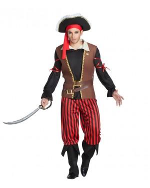 Costume da Pirata per Uomo a Righe per Carnevale | La Casa di Carnevale