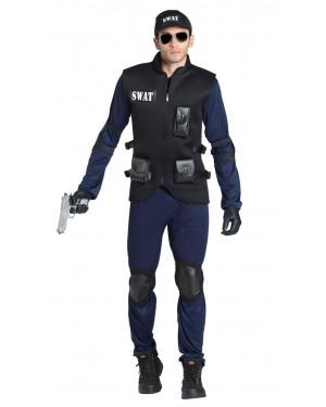 Costume da Poliziotto Swat Adulto per Carnevale | La Casa di Carnevale