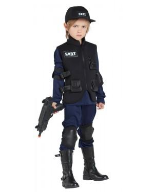 Costume da Poliziotto Swat Bambino per Carnevale | La Casa di Carnevale