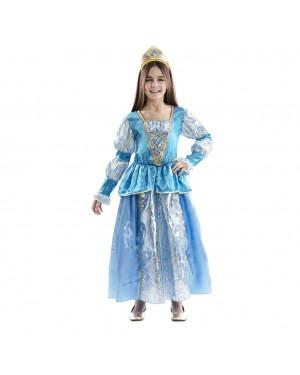 Costume da Principessa Blu Bambina per Carnevale | La Casa di Carnevale