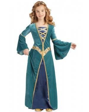 Costume da Principessa  Medievale Bimba