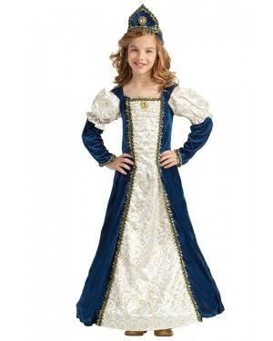 Costume da Principessa Medievale Blu Bimba