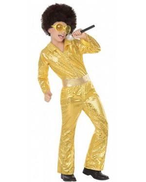 Costume da Ragazzo Disco Dorato Bambino per Carnevale | La Casa di Carnevale