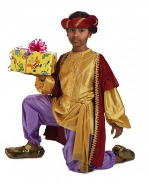 Costume Re Magio Baldassarre Lussuoso Bambino