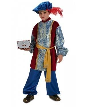 Costume Re Magio Gaspare Lussuoso Bambino