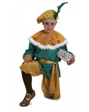 Costume Re Magio Melchiorre Lussuoso Bambino