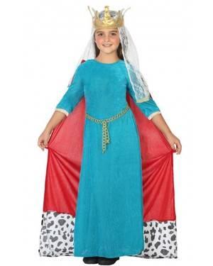 Costume da Regina Medievale Bambina per Carnevale | La Casa di Carnevale