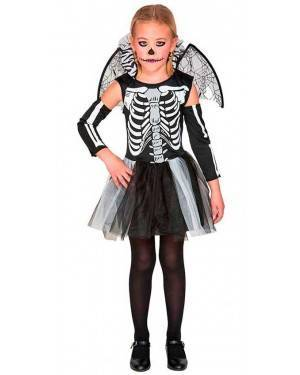 Costume da Scheletro Bambina 10-12 Anni per Carnevale