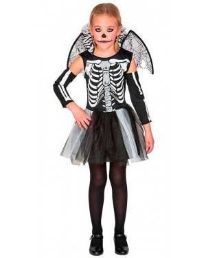 Costume da Scheletro Bambina 4-6 Anni per Carnevale