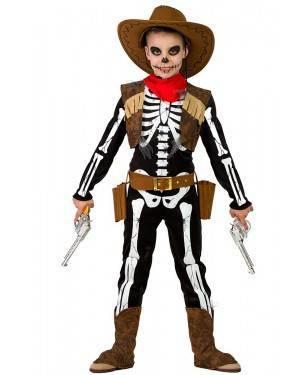 Costume da Scheletro Cowboy Bimbo