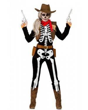 Costume da Scheletro Cowgirl Donna
