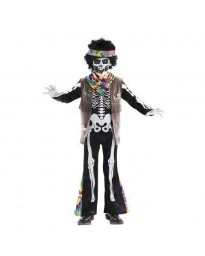 Costume da Scheletro Hippie Bambini per Carnevale | La Casa di Carnevale
