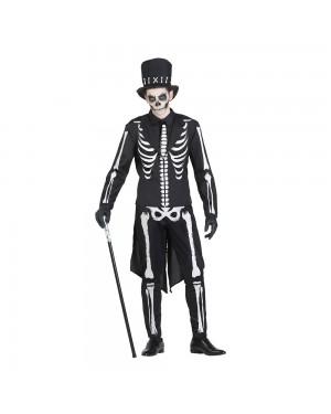 Costume da Scheletro Smoking Adulto per Carnevale | La Casa di Carnevale