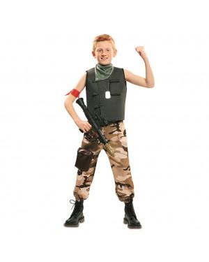 Costume da Soldato da Combattimento Bambino per Carnevale | La Casa di Carnevale