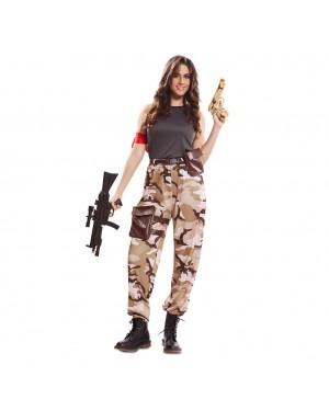 Costume da Soldato da Combattimento Donna per Carnevale | La Casa di Carnevale