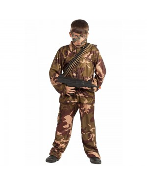Costume da Soldato Mimetico Bambino per Carnevale | La Casa di Carnevale
