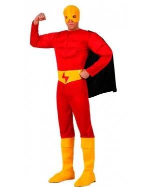 Costume Eroe Muscoloso Rosso
