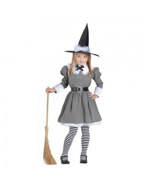 Costume da Strega Grey Sudest Bambina per Carnevale | La Casa di Carnevale