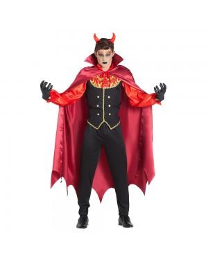 Costume da Vampiro Fiamme con Mantello per Carnevale   La Casa di Carnevale