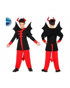 Costume Demone Alato 3-4 Anni