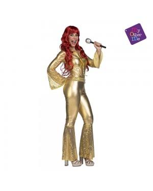 Costume Disco Dorato Donna M/L per Carnevale | La Casa di Carnevale