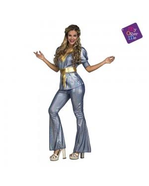 Costume Disco Silver Donna M/L per Carnevale | La Casa di Carnevale