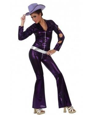 Costume Donna Disco Porpora XL