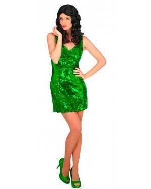 Costume Disco Verde M/L per Carnevale