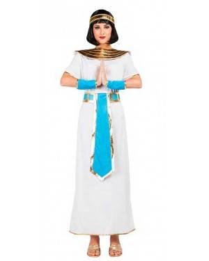 Costume Egiziana Blu Taglia M-L per Carnevale