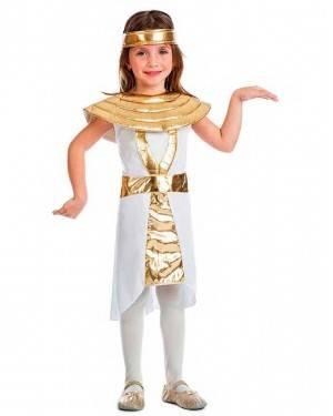 Costume Egiziana Oro Taglia 10-12 Anni per Carnevale