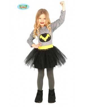 Costume Eroina Bat Bambina per Carnevale