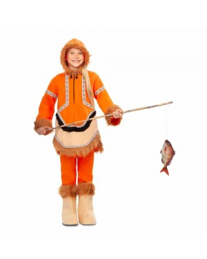 Costume Eschimese Bambina per Carnevale | La Casa di Carnevale