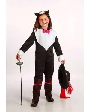 Costume Gatta Moschettiere Bambina T. 5 a 7 Anni