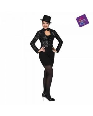 Costume Giacca e Farfallino Show Woman Nero M/L  per Carnevale | La Casa di Carnevale