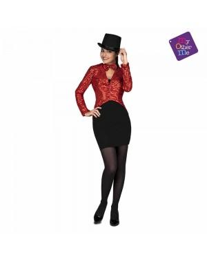 Costume Giacca e Farfallino Show Woman Rosso M/L  per Carnevale | La Casa di Carnevale
