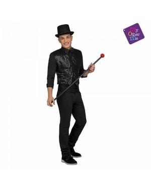 Costume Gilet e Farfallino Showman Nero M/L  per Carnevale | La Casa di Carnevale