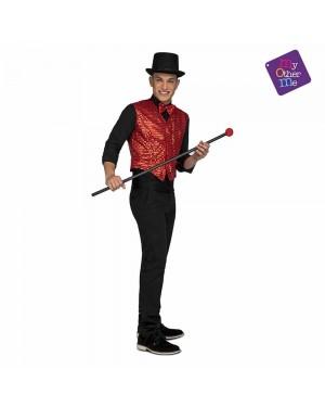 Costume Gilet e Farfallino Showman Rosso M/L  per Carnevale | La Casa di Carnevale