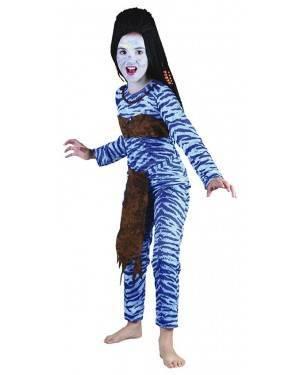 Costume Guerriero-Avatar Bambina